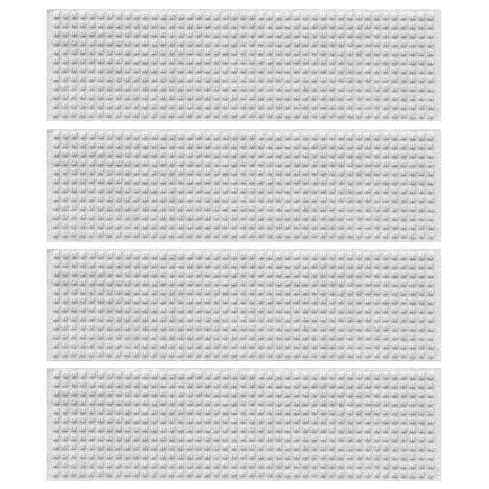 Aqua Shield White 8 5 In X 30 In Squares Stair Tread