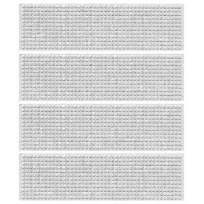White 8.5 in. x 30 in. Squares Stair Tread Cover (Set of 4)