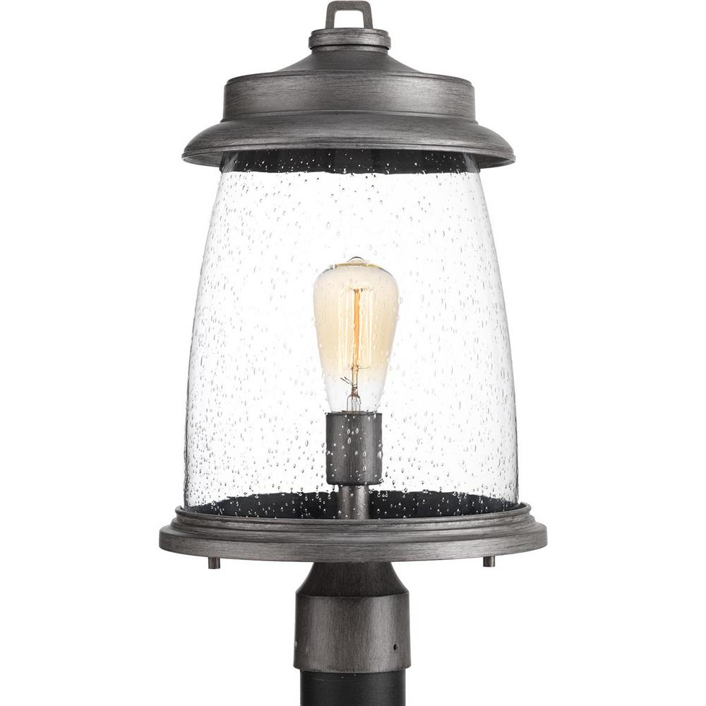 Progress Lighting Conover Collection 1-Light Outdoor Antique Pewter Post Lamp