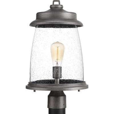 Conover Collection 1 Light Outdoor Antique Pewter Post Lamp