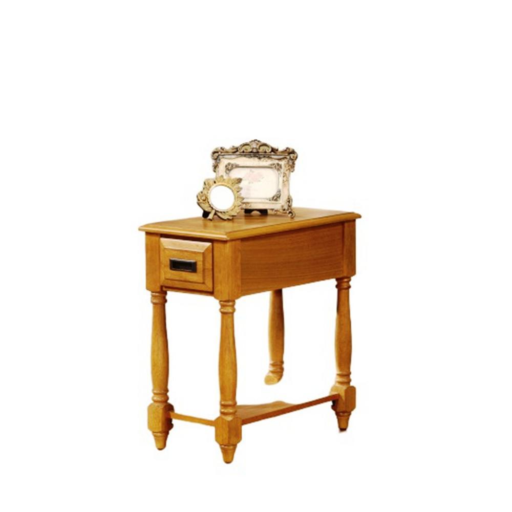 Amelia Oak Rubber Wood Side Table