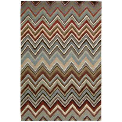 Contour Multi-Color 5 ft. x 7 ft. 6 in. Area Rug