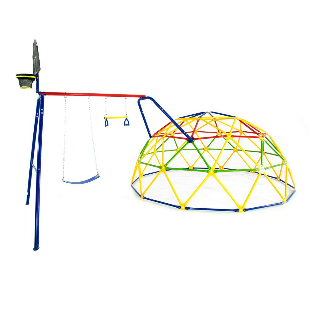 ACTIVPLAY 12 ft. Geo Dome Climber with Swing Set