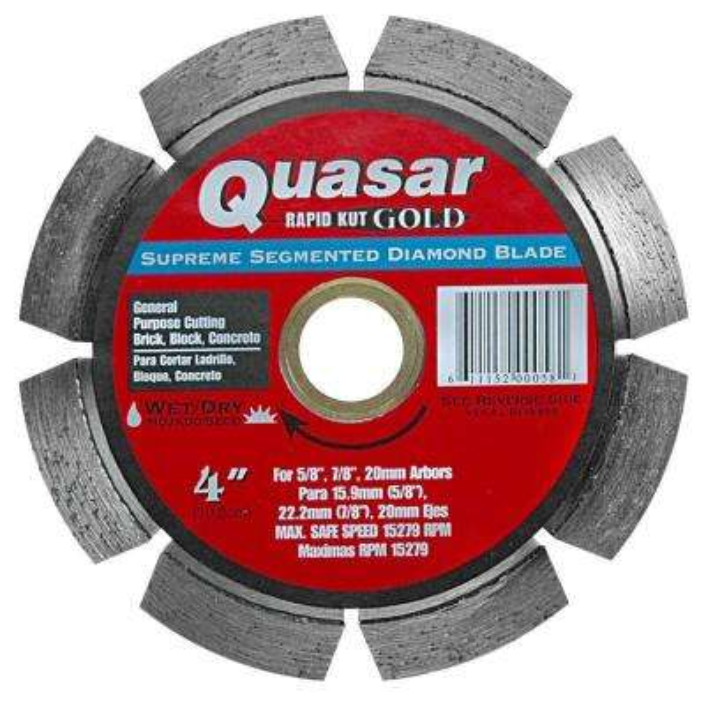 Rapid Kut Gold 4 in. Supreme Segmented Diamond Blade