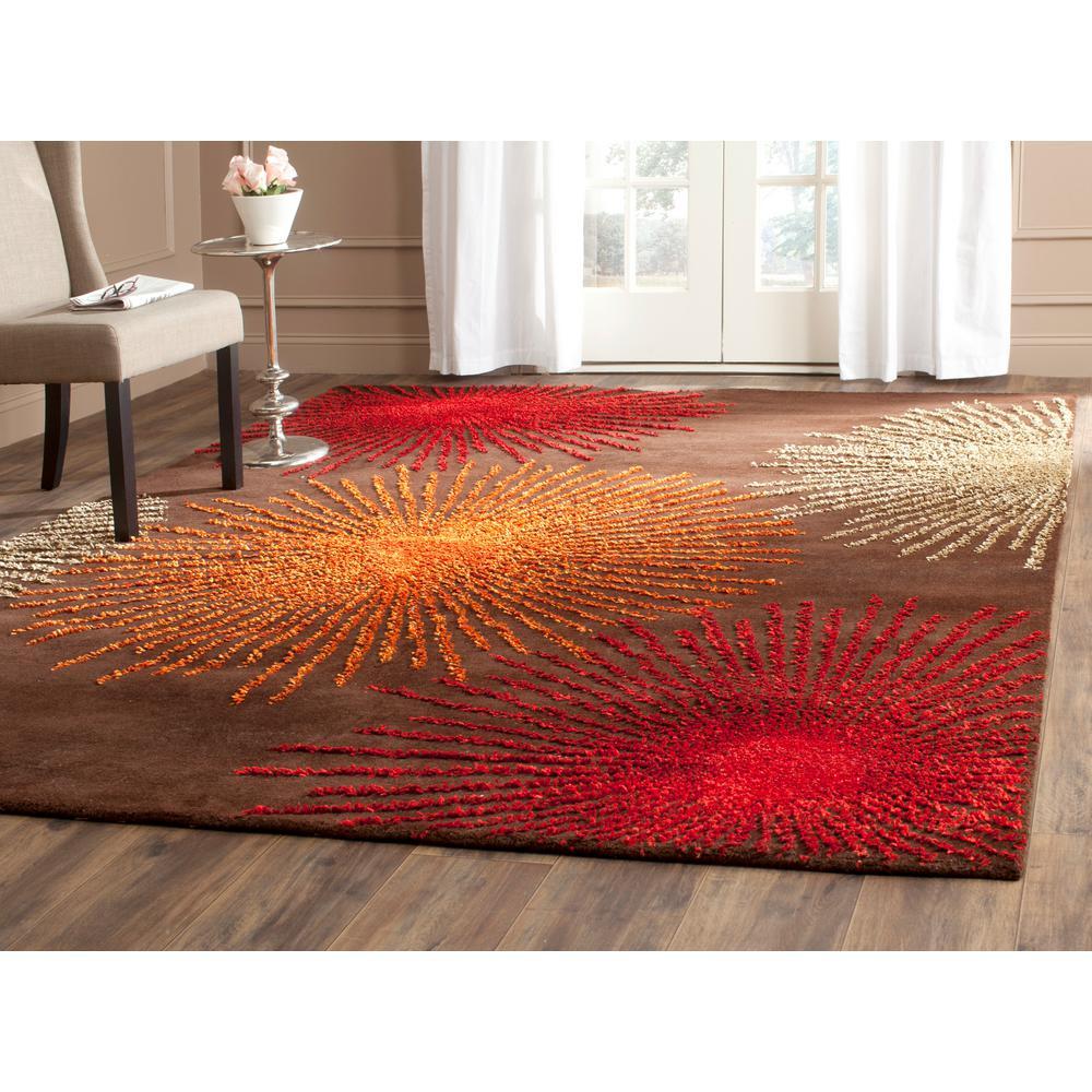 Safavieh Soho Brown/Multi Wool 5 ft. x 8 ft. Area Rug