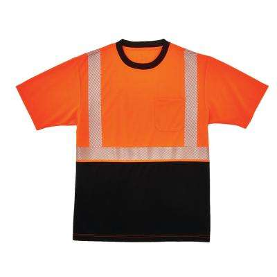 GloWear X-Large Hi Vis Orange Black Front Performance T-Shirt
