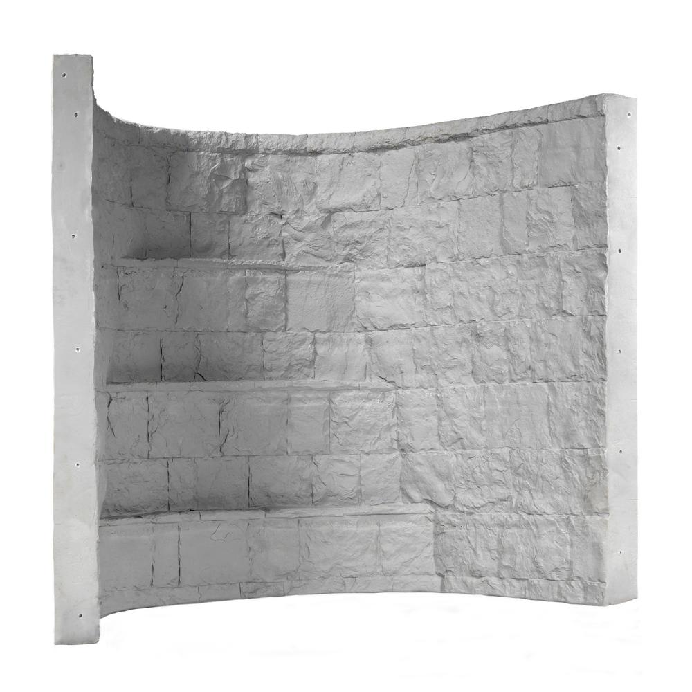 Rockwell 66 in. x 44 in. x 60 in. Grey Elite Composite Window Well