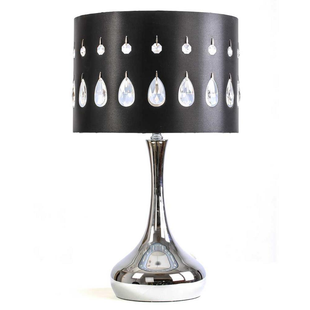 River Of Goods 21 In. Silver Indoor Table Lamp With