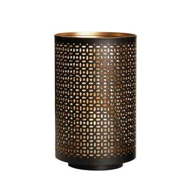 10 in. Black Gold Mesh Luminary Candle Holder