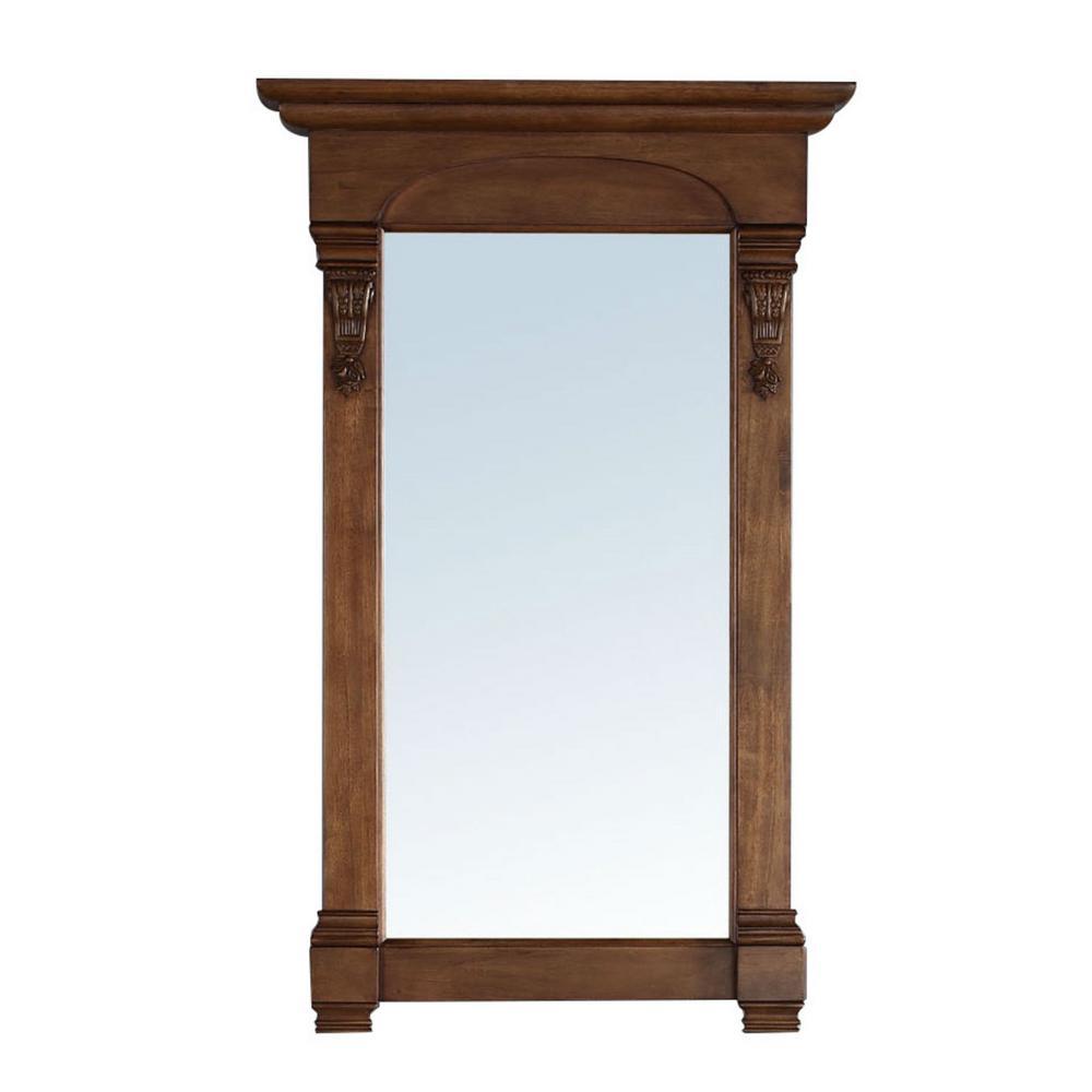 Brookfield 26 in. W x 42 in. H Framed Wall Mirror in Country Oak