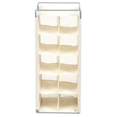 10-Pair Hanging Shoe Organizer in Natural