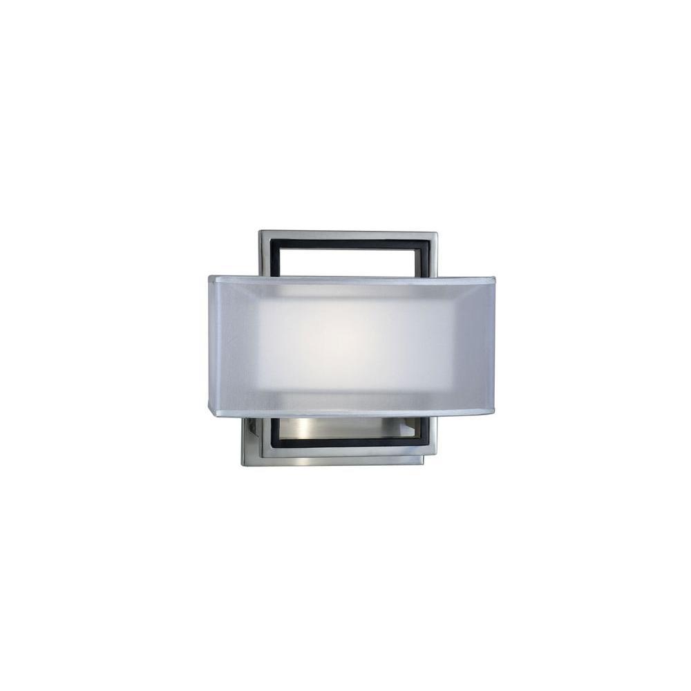 Filament Design Astrulux 1-Light Brushed Nickel Incandescent Wall Sconce
