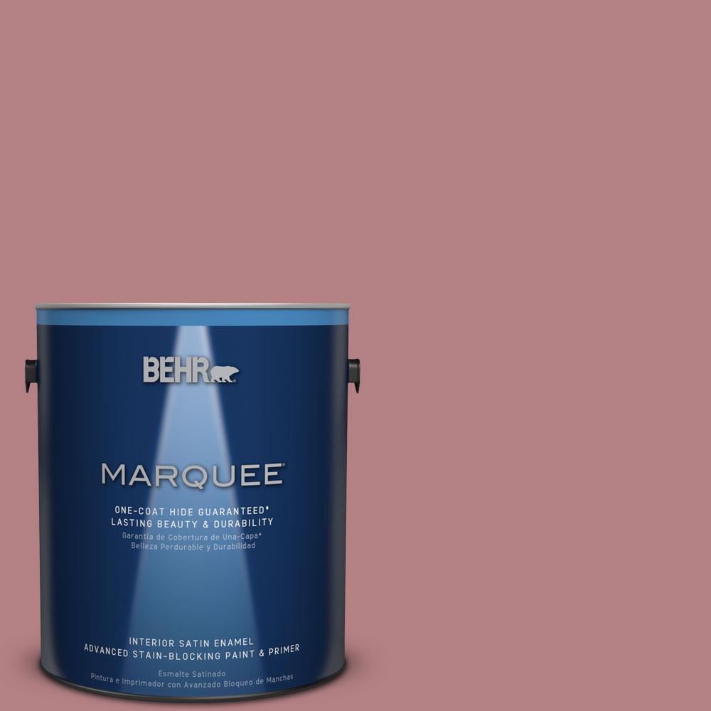 1 gal. #T14-15 Minuet Rose Satin Enamel Interior Paint