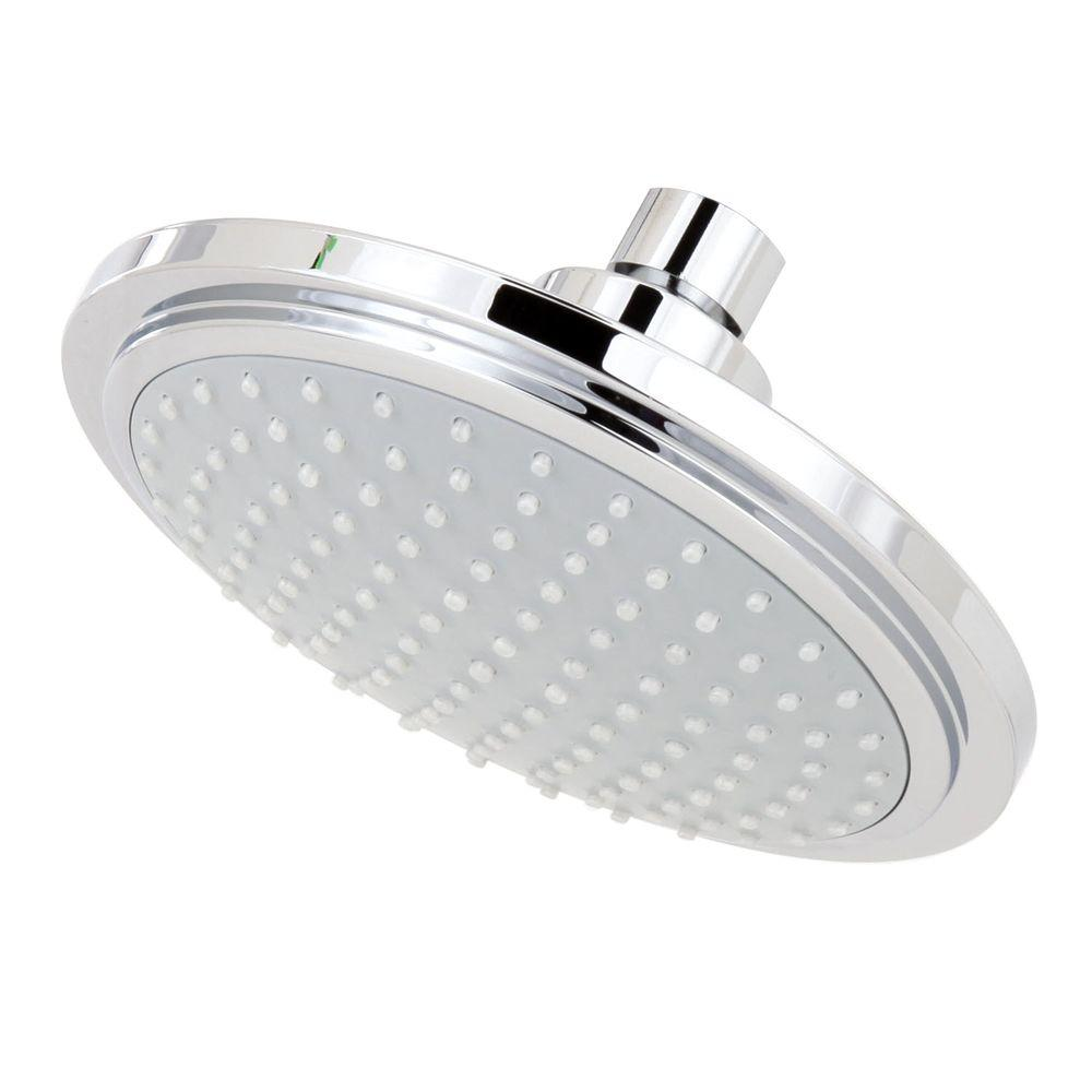 GROHE Euphoria Cosmo 1-Spray 6.3 in. Fixed Shower Head in StarLight ...