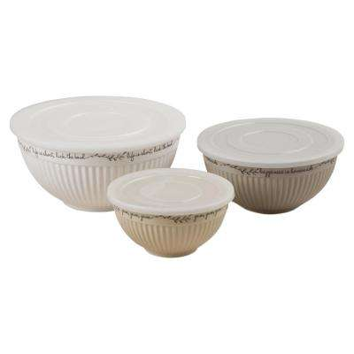 Kitchen Quote 74 oz., 42 oz., 20 oz. Lidded Bowls (Set of 3)