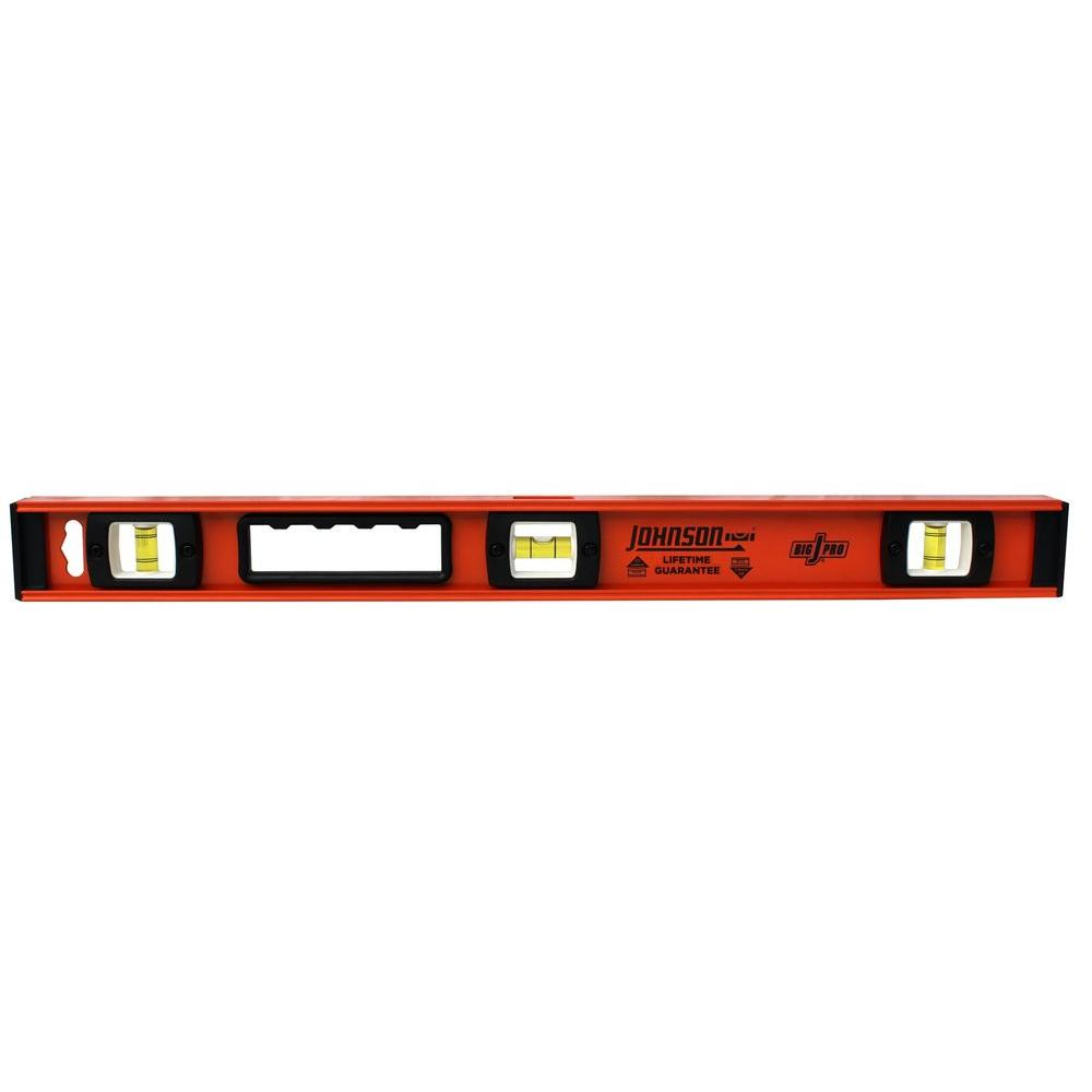 Johnson 24 in. Big J Pro Heavy Duty I-Beam Aluminum Level
