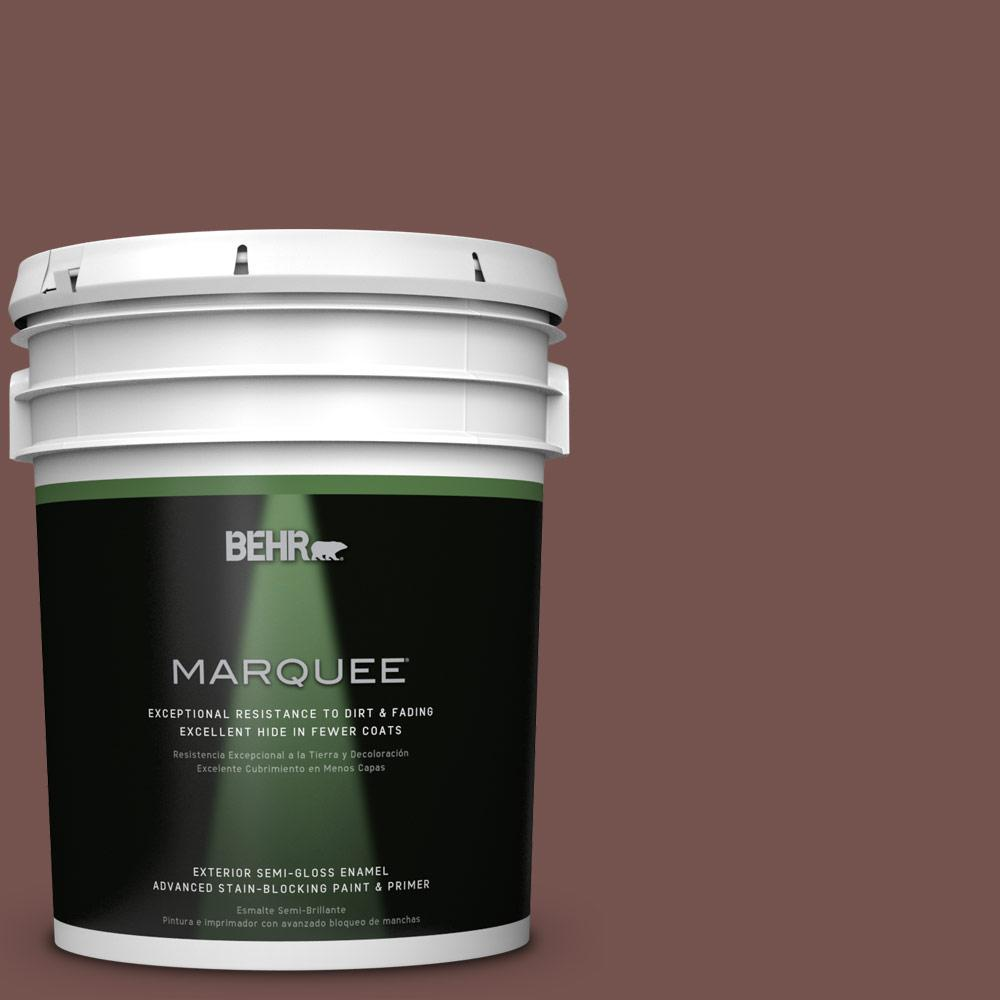 BEHR MARQUEE Home Decorators Collection 5-gal. #HDC-CL-12 Terrace Brown Semi-Gloss Enamel Exterior Paint