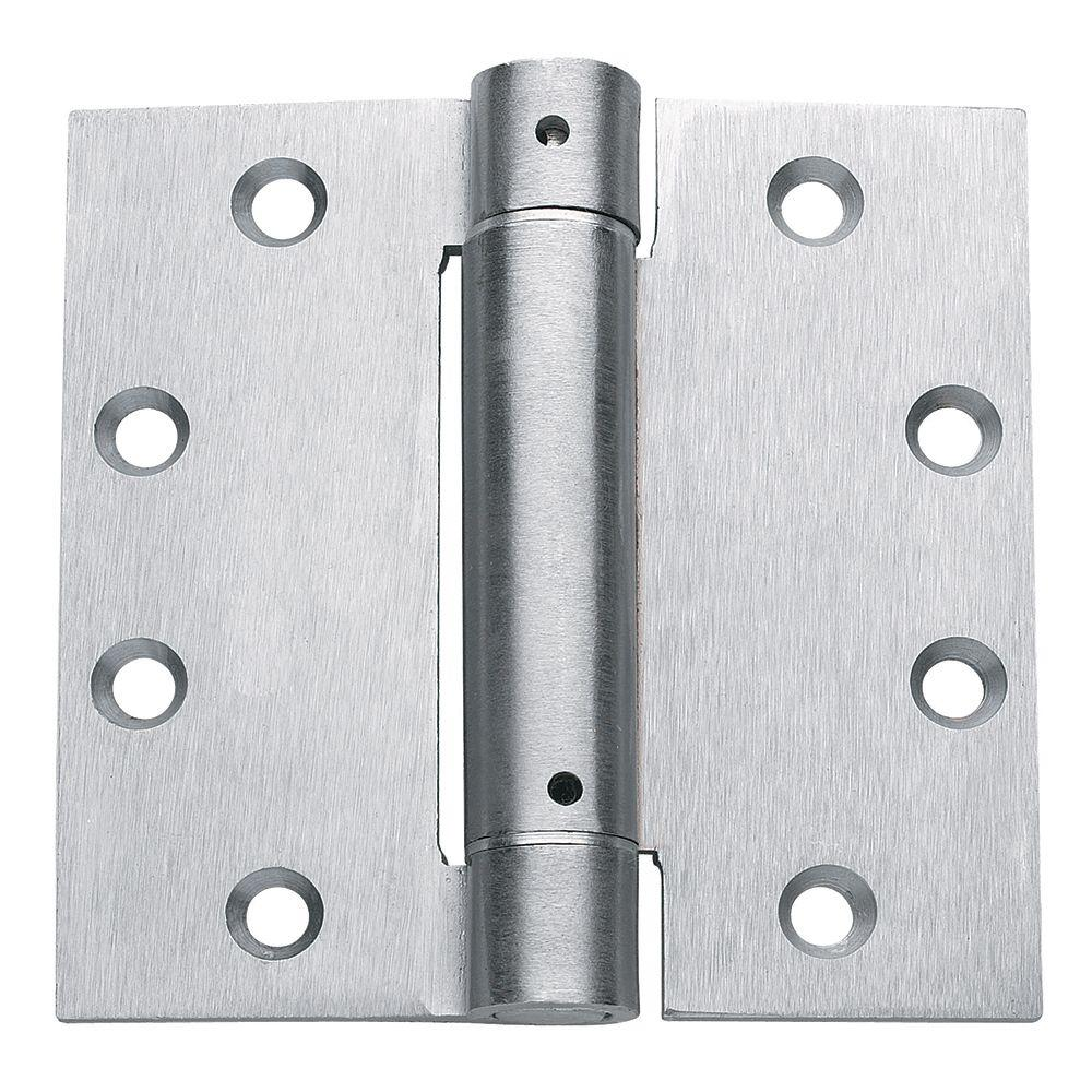 """Satin Chrome UL LISTED Commercial Spring Hinge 4.5/"""" x 4 1//2/"""" Door Closer"""