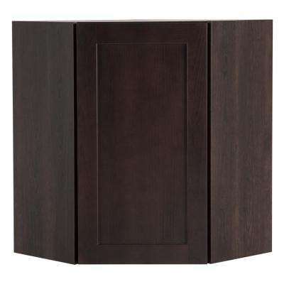 Cambridge Assembled 23.64x30x23.64 in. Corner Wall Cabinet in Dusk
