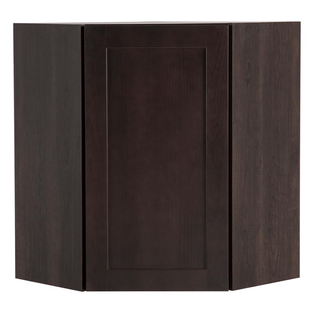 Cambridge Assembled 23.64x30x23.64 in. Corner Wall Cabinet in Dusk