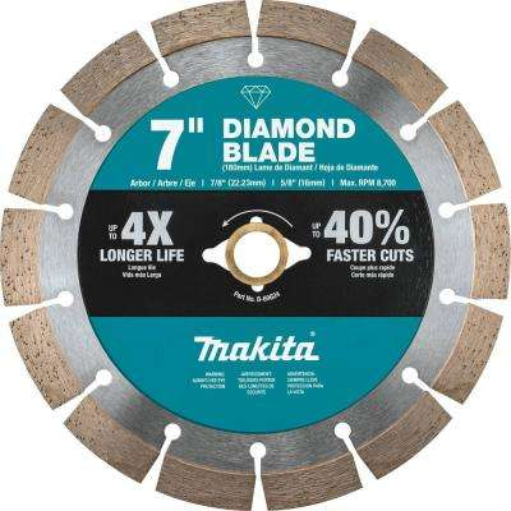 7 in. Segmented Rim Diamond Blade for General Purpose