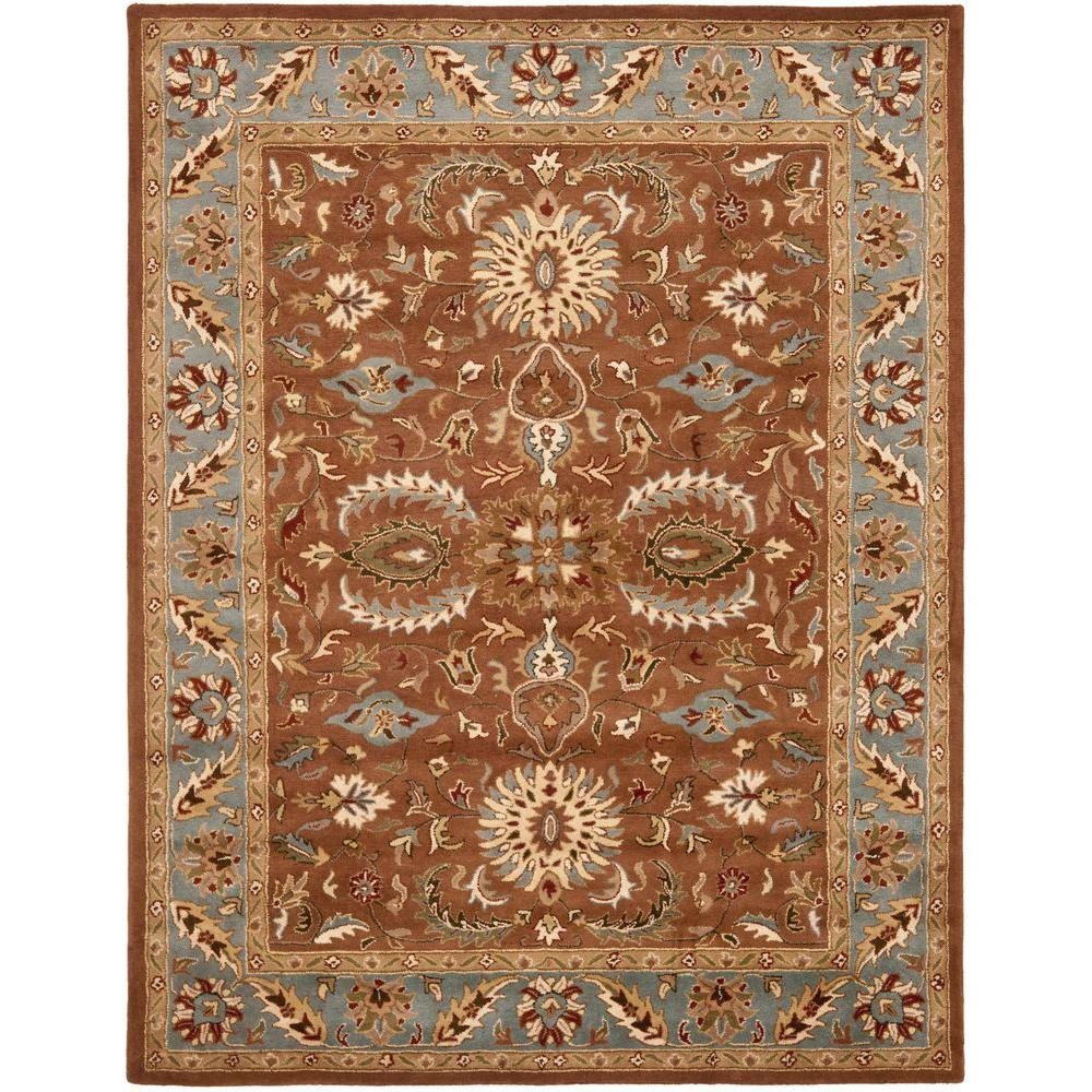 Heritage Brown/Blue 8 ft. 3 in. x 11 ft. Area Rug