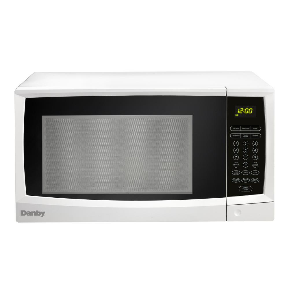 Danby 1 Cu Ft Countertop Microwave In White