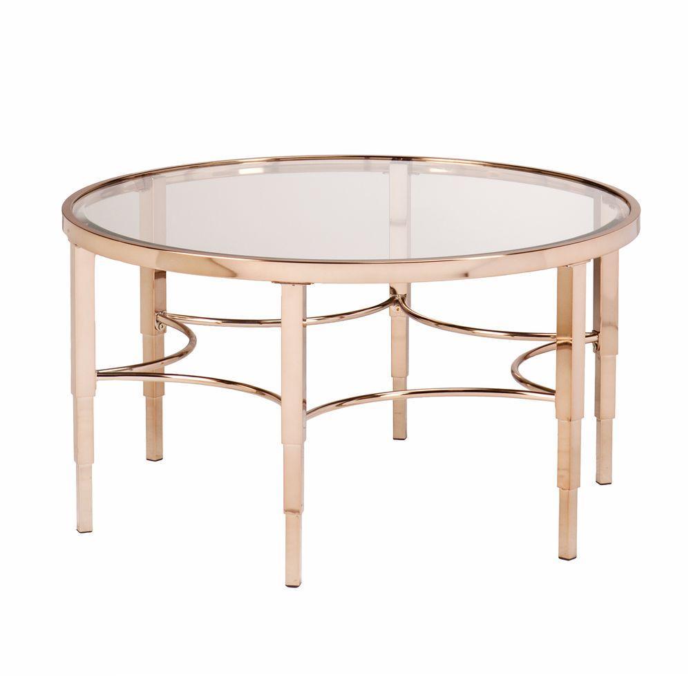 Southern Enterprises Bertha Metallic Gold Coffee Table Hd864877