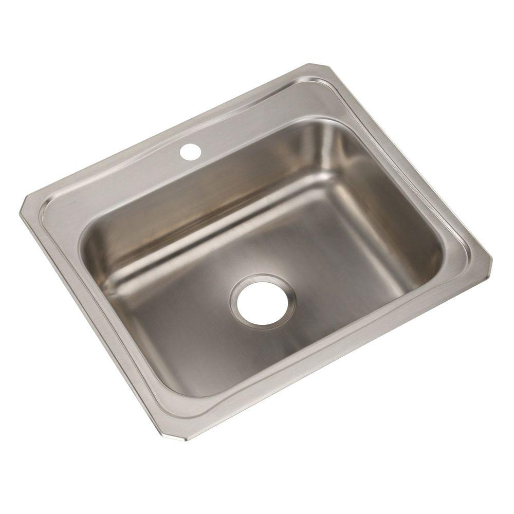 stainless steel drop in kitchen sinks elkay drop in stainless steel 25 in 1 9392