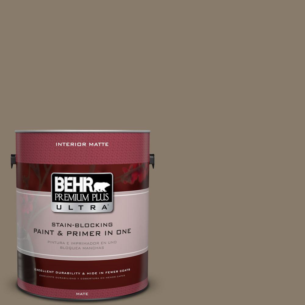 BEHR Premium Plus Ultra 1 gal. #PPU7-24 Native Soil Flat/Matte Interior Paint
