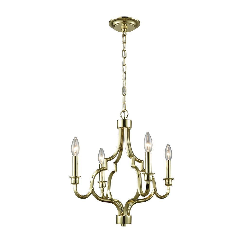 Livonia 4-Light Polished Gold Chandelier