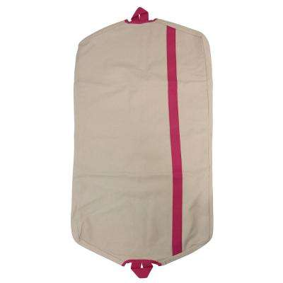 Natural and Hot Pink Garment Bag