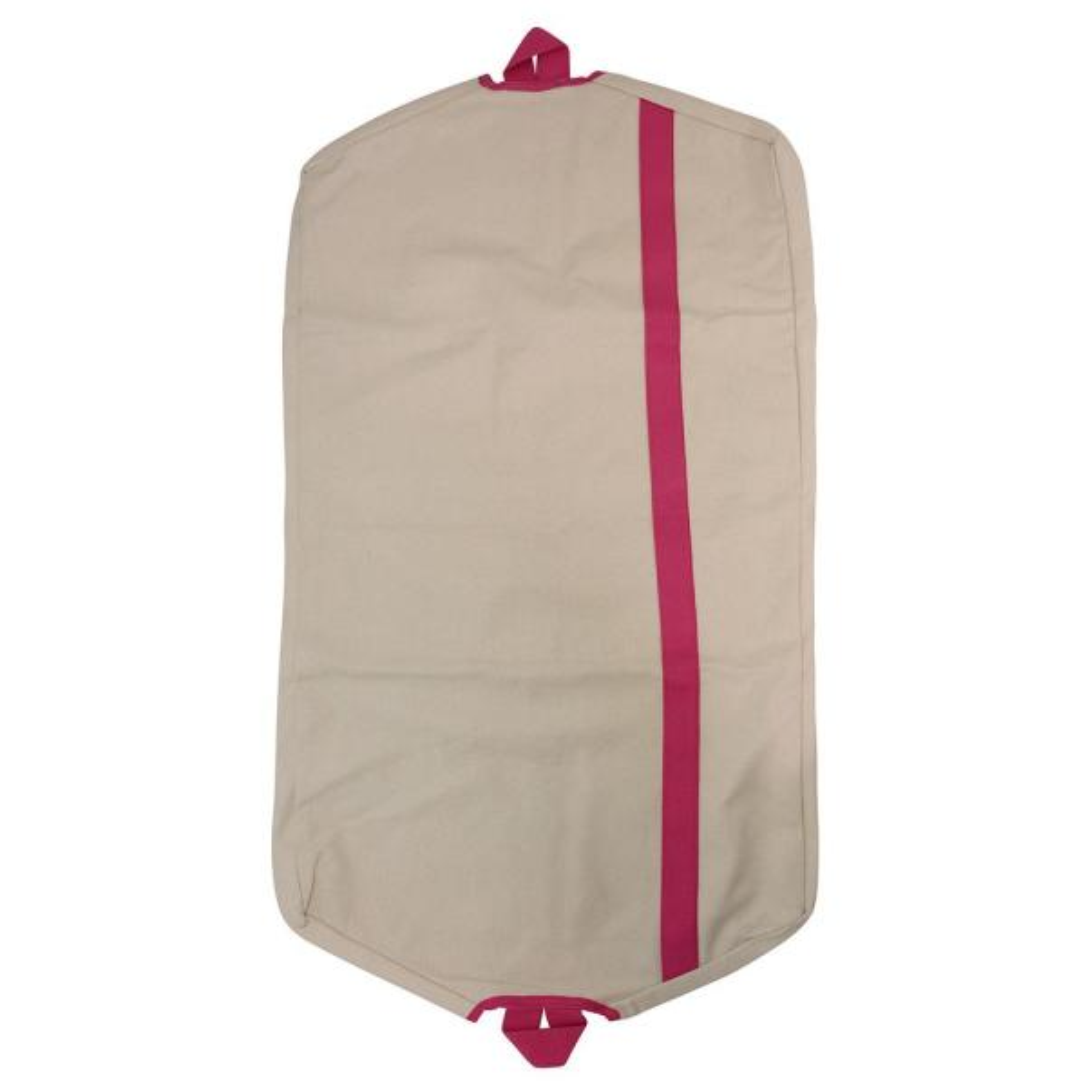 CB Station Natural and Hot Pink Garment Bag 6496