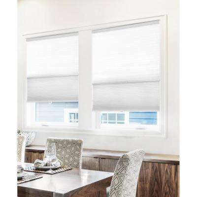 Cut-to-Width Cotton 9/16 in. Light Filtering and Privacy Cordless Cellular Shade - 70 in. W x 72 in. L