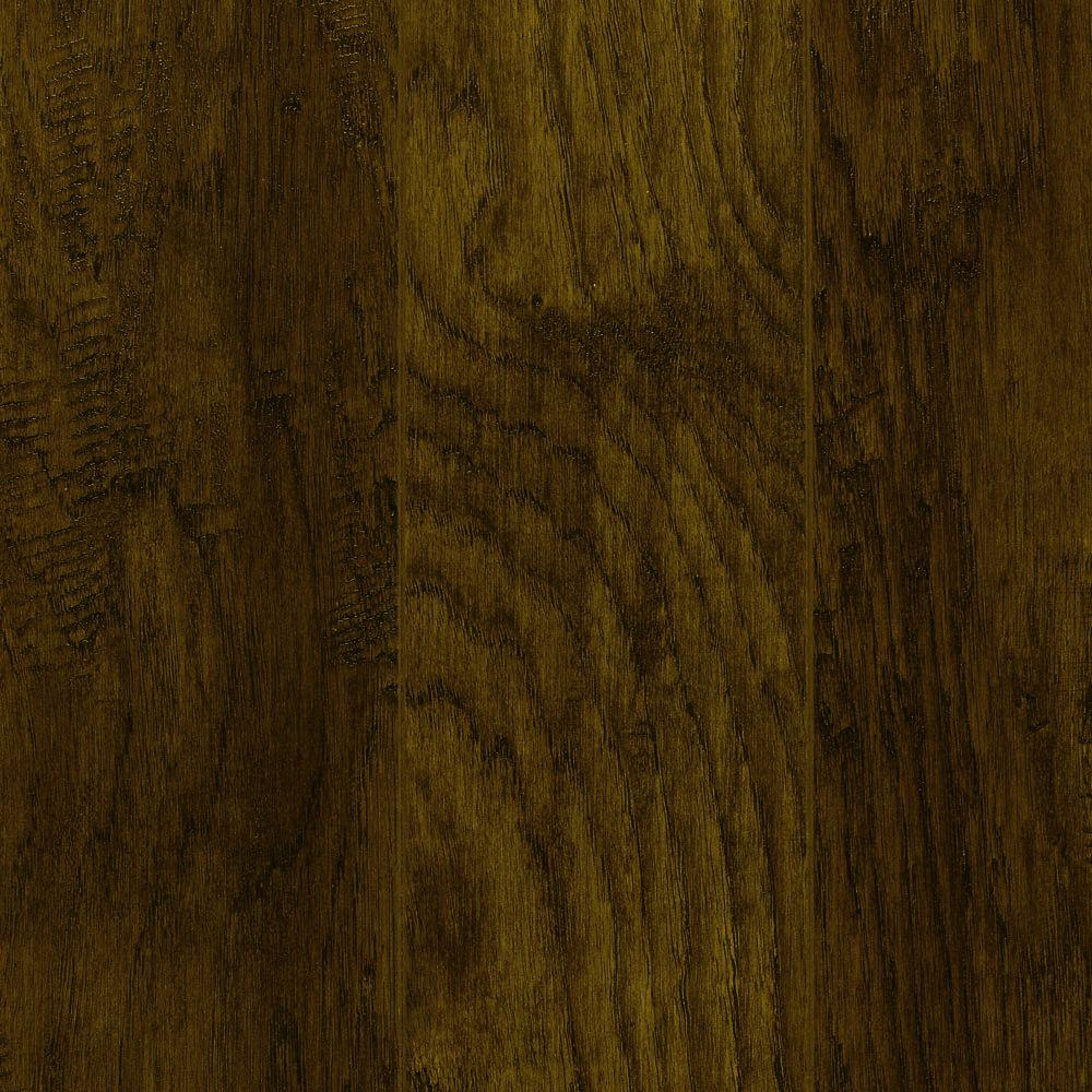 Hand-Scraped Tanned Hickory 12 mm Thick x 5-9/32 in. Wide x