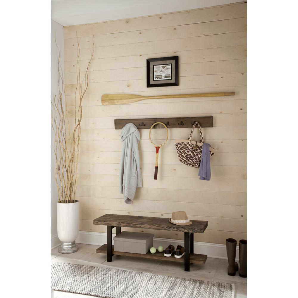 Pomona Reclaimed Wood Coat Hook with Bench
