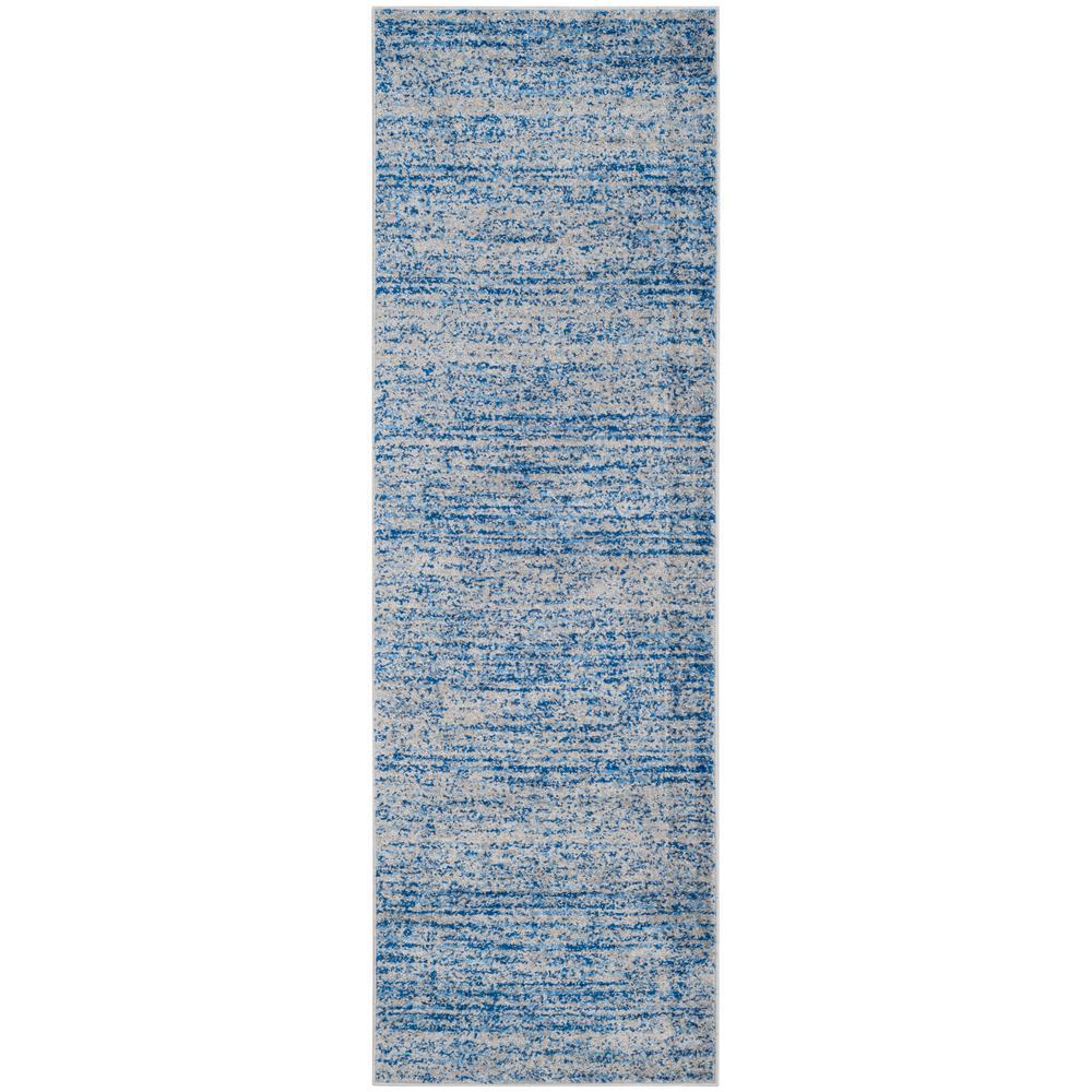 Adirondack Blue/Silver 3 ft. x 18 ft. Runner