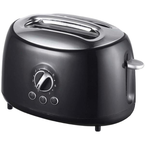 Retro 2-Slice Black Extra-Wide Slot Toaster with Cool-Touch Exterior