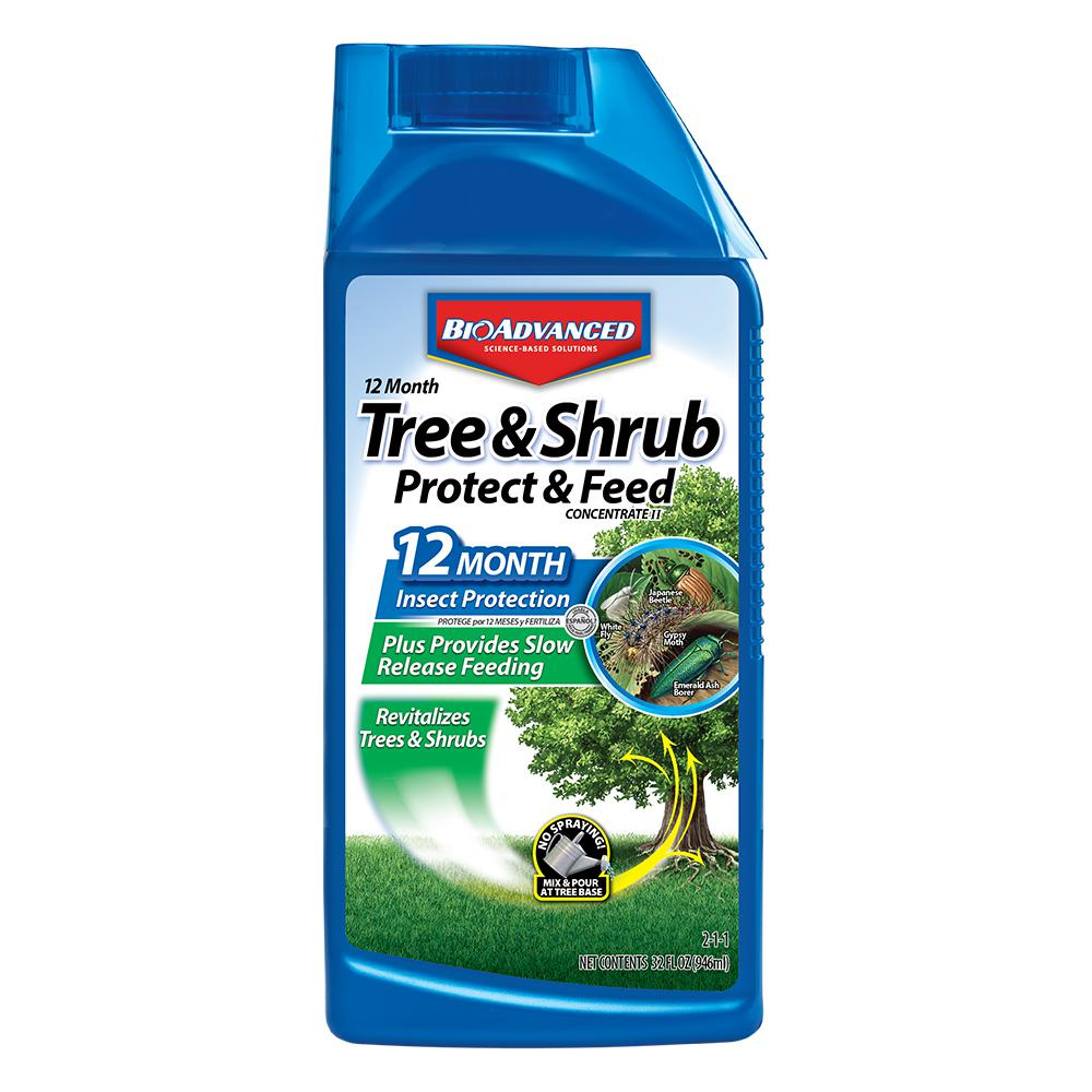 BioAdvanced 32 oz. Concentrate Tree and Shrub Protect with Feed