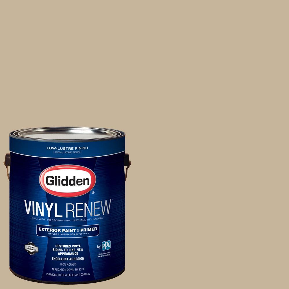 1 gal. #HDGWN40 Jefferson House Tan Low-Lustre Exterior Paint with Primer
