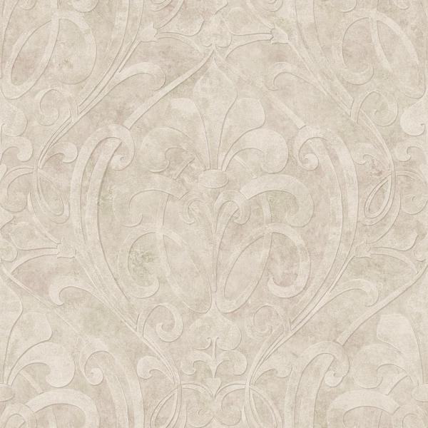 Zoe Quartz Coco Damask Paper Strippable Roll (Covers 56.4 sq. ft.)