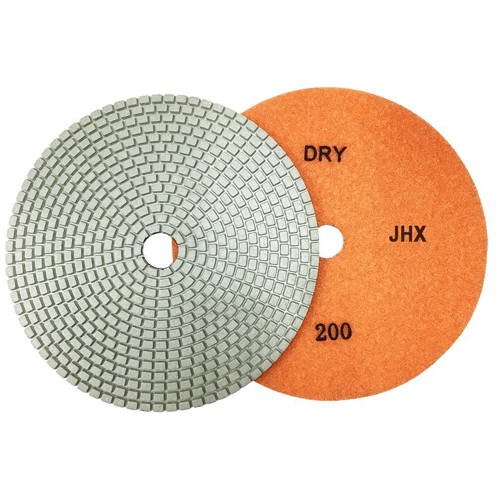 "5/"" JHX Dry Diamond Polishing Pads Set of 7"