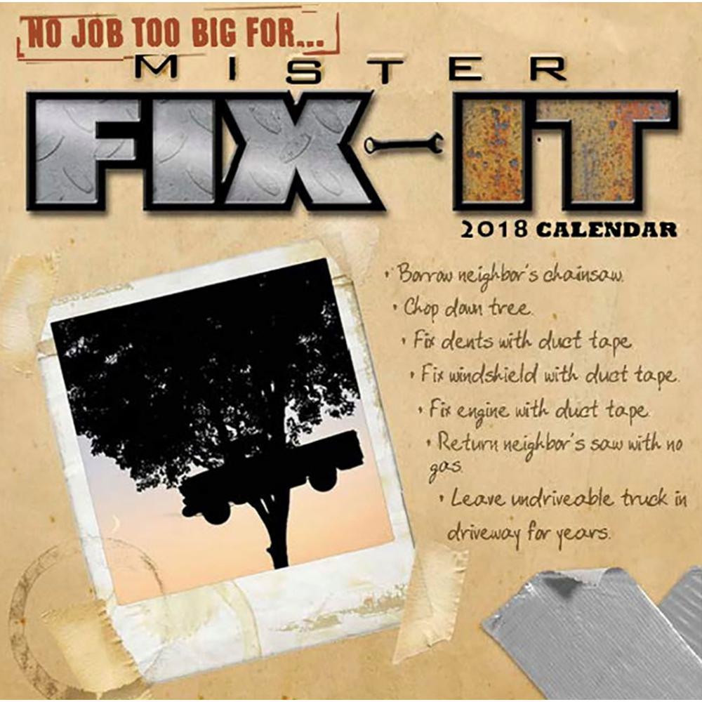 2019 Mister Fix-It Wall Calendar