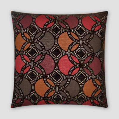 Roundabout Brandy Feather Down 18 in. x 18 in. Standard Decorative Throw Pillow