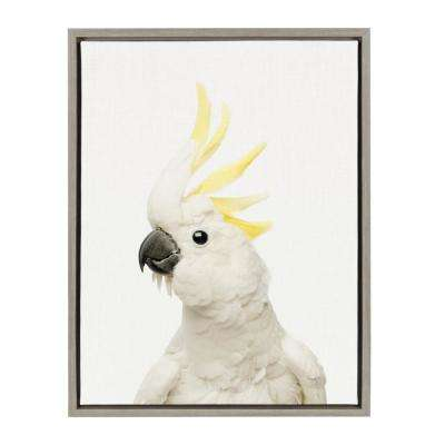 "Sylvie ""Animal Studio Bird"" by Amy Peterson Framed Canvas Wall Art"