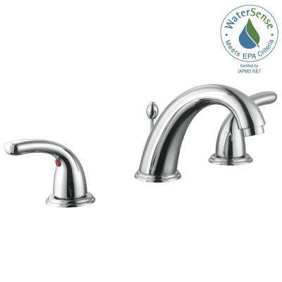 Builders 8 in. Widespread 2-Handle High-Arc Bathroom Faucet in Chrome