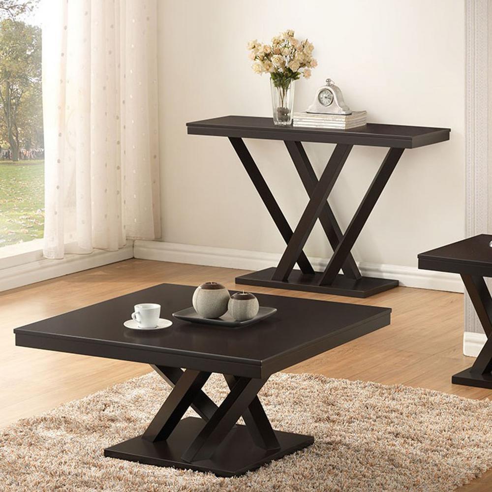 Outstanding Baxton Studio Everdon Dark Brown Console Table 28862 4967 Hd Spiritservingveterans Wood Chair Design Ideas Spiritservingveteransorg