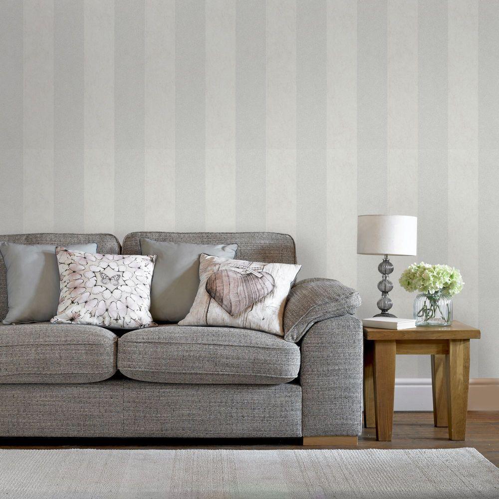 Dove Artisan Stripe Wallpaper