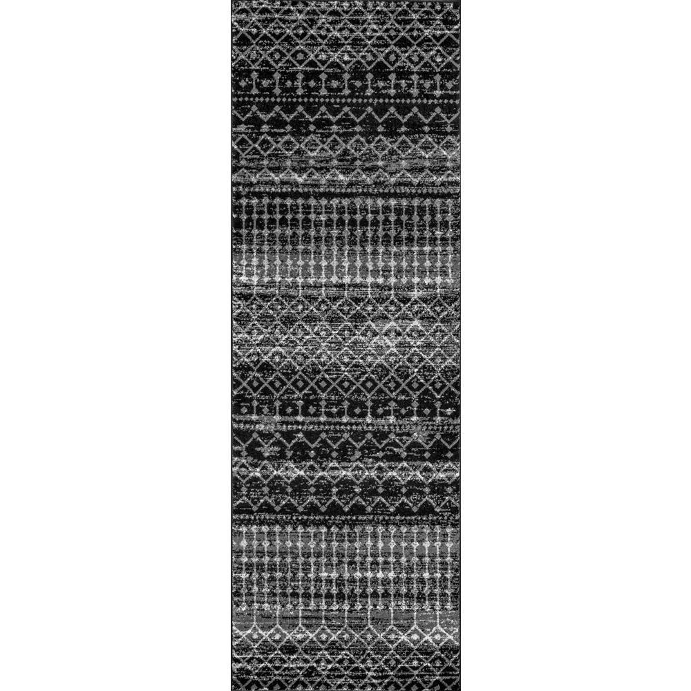 Moroccan Blythe Brown 2 ft. 8 in. x 8 ft. Runner Rug