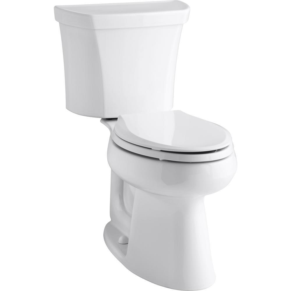Highline 2-Piece 1.0 GPF Single Flush Elongated Toilet in White